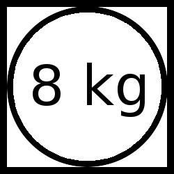 Wärmepumpentrockner Ladekapazität 8 kg.