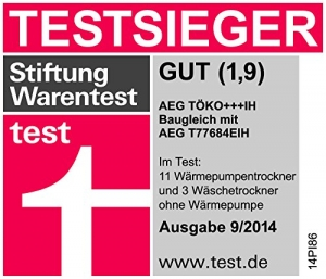 AEG LAVATHERM TÖKO+++IH Wärmepumpentrockner / A+++ / 8 kg / weiß / Silent System Plus - 3