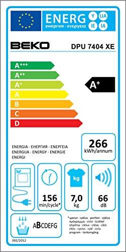 Beko DPU 7404 XE Wärmepumpentrockner / A+ / 266 kWh/Jahr / 7 kg / Trommelinnenbeleuchtung / weiß - 2