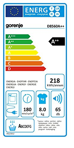 Gorenje D8560 Wärmepumpentrockner / A++ / 8 kg / Uselogic/ weiß - 2