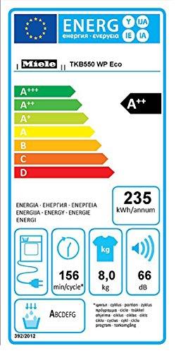 Miele TKB550WP D LW Eco Wärmepumpentrockner / A++ / 8 kg / Punktgenaue Trocknung für alle Textilien -PerfectDry / Duftende Wäsche, so wie Sie es mögen - Fragrance Dos / lotosweiß - 2
