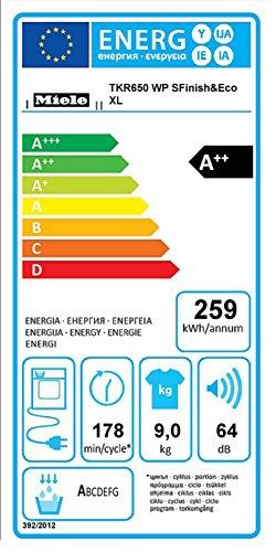 Miele TKR650WP D LW S Finish und Eco XL Wärmepumpentrockner / A++ / 9 kg / Besonders große Beladungsmenge von 9.0 / Duftende Wäsche, so wie Sie es mögen - Fragrance Dos / lotosweiß - 2
