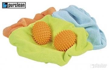 4 Stück (2x 2er Set) purclean Trocknerbälle, flauschige Wäsche und ökologisch Weichspüler sparen - 3