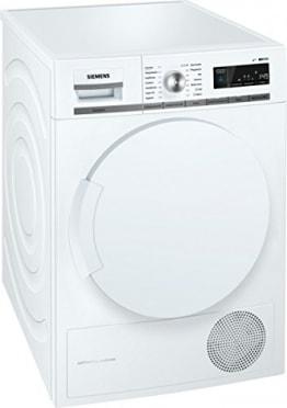 Siemens iQ700 WT44W5W0 iSensoric Premium Wärmepumpentrockner / A+++ / 8 kg / Großes Display mit Endezeitvorwahl / Selbstreinigungs-Automatik / weiß -