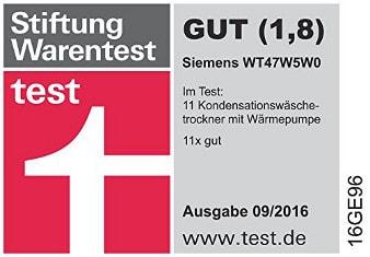 Siemens WT47W5W0 stiftung warentest