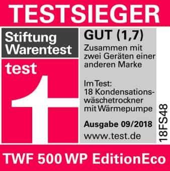 Miele TWF 500 WP Edition Eco stitgun Warentest Urteil