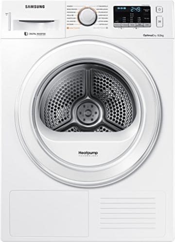 Samsung DV80M5210IW/EG Wärmepumpentrockner / 8kg / 60 cm Höhe/Kondenswasserstandsanzeige / Kurzprogramm/Alarm Mischbeladung/SmartCheck -