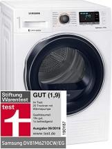 Der Samsung DV6000 DV81M6210CW EG Wärmepumpentrockner im grossen Wärmepumpentrockner Test und Vergleich.
